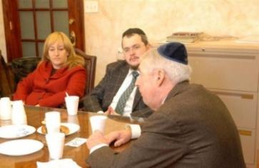 Henna White, Eli Poltorak (Chabad), & Joe Hynes