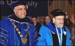 YU Pres. Richard Joel &  Pres. Emeritus Norman Lamm