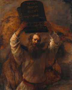 Rembrandt- Moses with the Ten Commandments