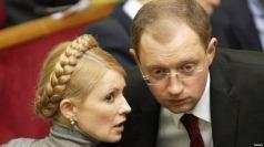 L to R Yulia Tymoshenko Arseniy Yatsenyuk