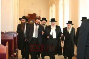 Skvere Rebbe Kiev visit w Chabad2