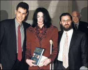 psychic Uri Geller, singer/dancer Michael Jackson, publicity hound R Shmuley Boteach
