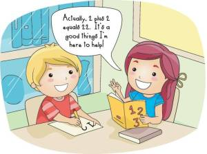 Manipulation cartoon math