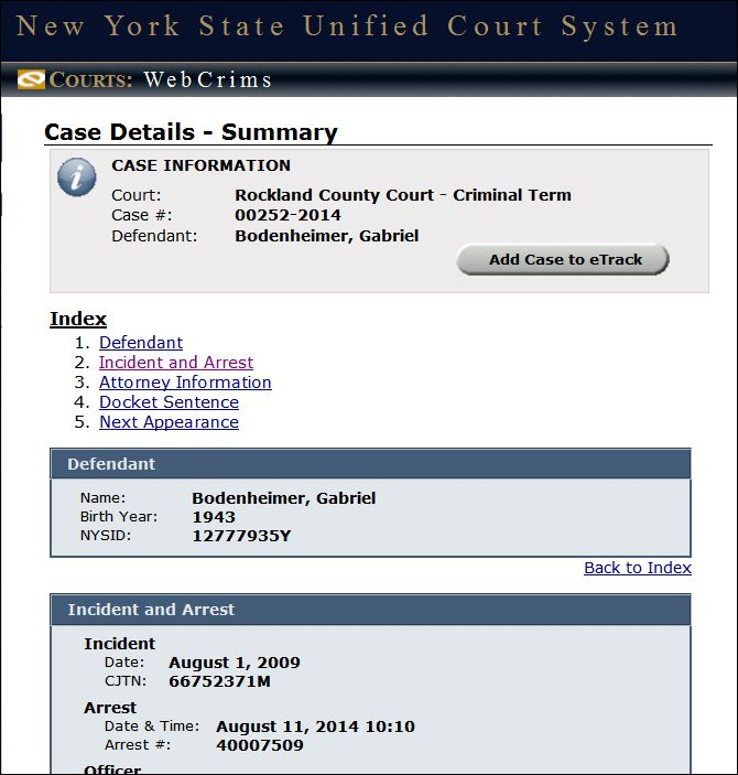 Bodenheimer incident and arrest from webcrims