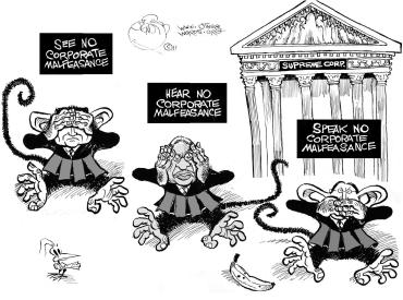 Judges three monkeys