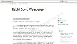 Rabbi Dovid Weinberger blog 7-23-14