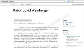 Rabbi Dovid Weinberger blog 7-23-14