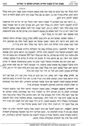 Shafran Yeshurun Psak 7