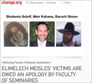 Petition for seminary apology for Meisels