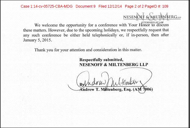 Meisels lawsuit leak complaint response p2 of 2 12-11-14