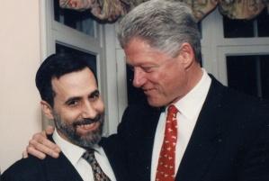 Menachem Genack & Bill Clinton