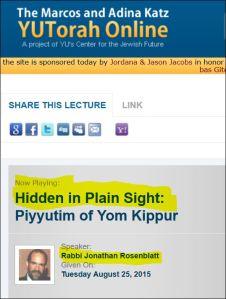 Jonathan Rosenblatt Hidden in Plain Sight YU Lecture