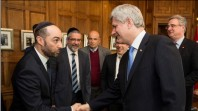Steve Maman Shaking Hands with Canadian Prime Minister Stephen Harper