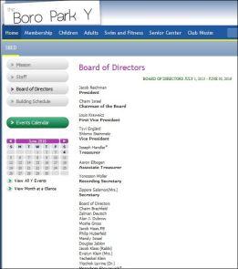 Mendy Israel Boro Park Y Board of Directors 6-4-16