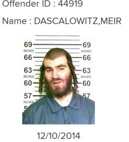 Meir Dascalowitz 2014 mug shot